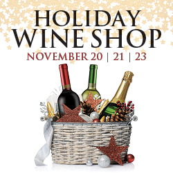 At the fabulous Tulalip Resort Casino south of Richmond, BC near Seattle on I-5 visit our Holiday Wine Store November 20, 21 and 23!