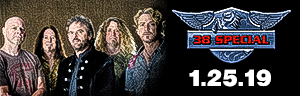 38 Special is at Tulalip Resort Casino Friday, January 25, 2019 in the Orca Ballroom, which is located south of Richmond, BC near Seattle on I-5 - get your tickets!