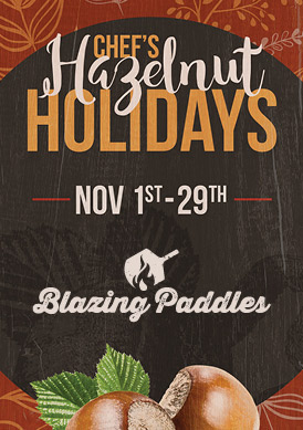 Play slots at Tulalip Resort Casino and enjoy our Chef's Holiday Halelnuts specials at Blazing Paddles - we are just north of Bellevue and Mukilteo on I-5!