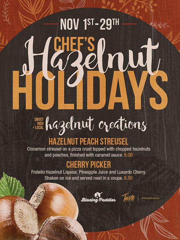 Play slots at Tulalip Resort Casino and enjoy our Chef's Holiday Halelnuts specials at Blazing Paddles - we are just north of Bellevue and Lynnwood on I-5!