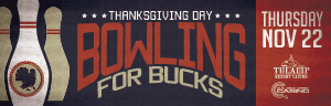 Play slots at Tulalip Resort Casino to enter Bowling for Bucks on Thursday, November 22 - located just north of Seattle on I-5!