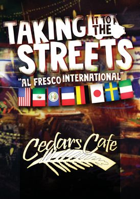 "Play slots at Tulalip Resort Casino and enjoy our Taking It To the Streets ""Al Fresco International"" dining specials in Cedars Cafe August 1 - September 2 - located south of Vancouver, BC near Seattle on I-5!"