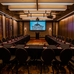 The fabulous Tulalip Resort Casino just north of Bellevue and Seattle on I-5 has spectacular meeting facilities and staff available for your event - check out Chinook I!