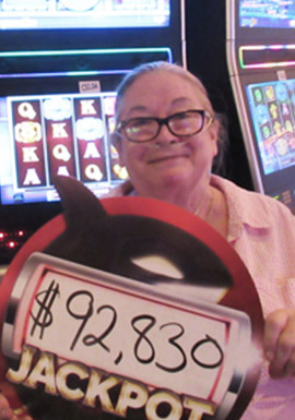 At the fabulous Tulalip Resort Casino Colleen M. hit a huge slots jackpot on Mega Vault - located south of Richmond, BC near Seattle on I-5!