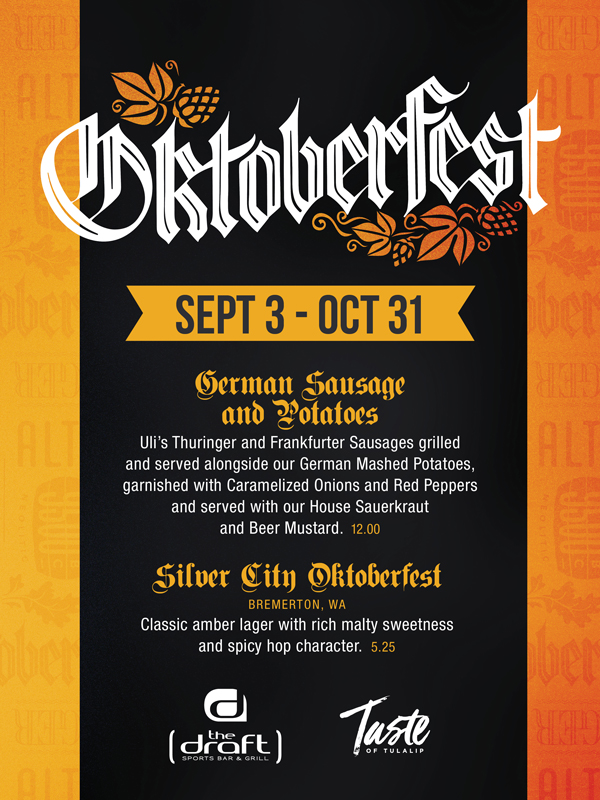 Play slots at Tulalip Resort Casino south of Vancouver, BC near Seattle on I-5 and enjoy special Oktoberfest dining options in The Draft through October 31!