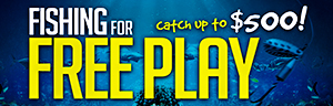 Come in to Tulalip Resort Casino just north of Seattle near Marysville on I-5 in September to play slots and enjoy Fishing for Free Play!