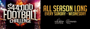 Play slots at Tulalip Resort Casino just north of Bellevue and Seattle on I-5, and during the pro football season select the winning pro football teams to win Free Play and more!