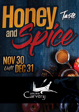 Play slots at Tulalip Resort Casino and enjoy our Chef's Holiday Honey and Spice specials at Canoes Carvery - we are just north of Bothell and Seattle on I-5!