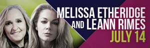 The fabulous Tulalip Resort Casino south of Richmond, BC near Seattle on I-5 hosts Melissa Etheridge and LeAnn Rimes playing live in concert in Tulalip Amphitheatre - get your tickets!