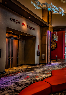 At the fabulous Tulalip Resort Casino south of Vancouver, BC near Seattle on I-5 we host great entertainment in the Orca Ballroom - get your tickets!