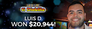 Play slots at Tulalip Resort Casino south of Richmond, BC near Seattle on I-5 like Luis D. hitting a big slots jackpot on Loteria!