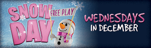 Play slots at Tulalip Resort Casino to win Snow Day prizes every Wednesday in December - located just north of Seattle on I-5!