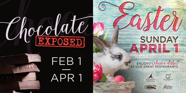 Dine at Tulalip Resort Casino south of Richmond, BC near Seattle on I-5 to enjoy wonderful chocolate confections and Easter specials!
