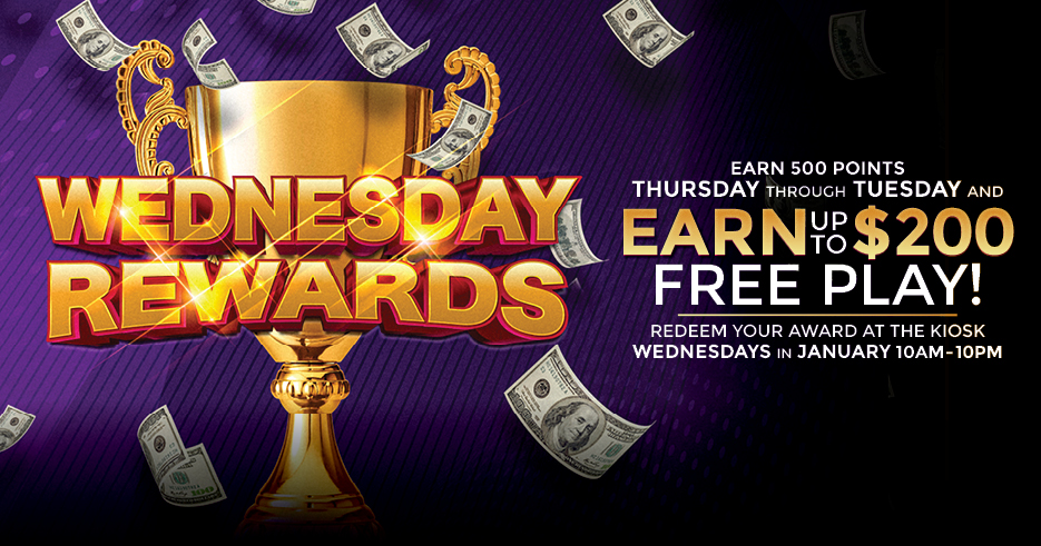 Tulalip Resort Casino - Earn up to $200 Free Play rewards each week! Just earn 500 slot points to qualify Thursday through Tuesday.