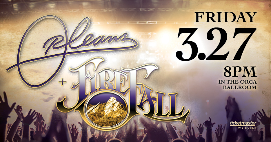 Enjoy Orleans + Fireball live in concert at the Tulalip Resort Casino in the Orca Ballroom on Friday, March 27, 2020 - get your tickets!