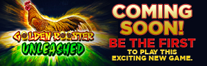 Play slots at Tulalip Resort Casino north of Everett near Marysville on I-5 like the exciting Golden Rooster Unleashed  video gaming machine!
