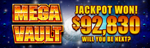 Play the Mega Vault Jackpot slots at Tulalip Resort Casino just north of Everett next to Marysville on I-5!