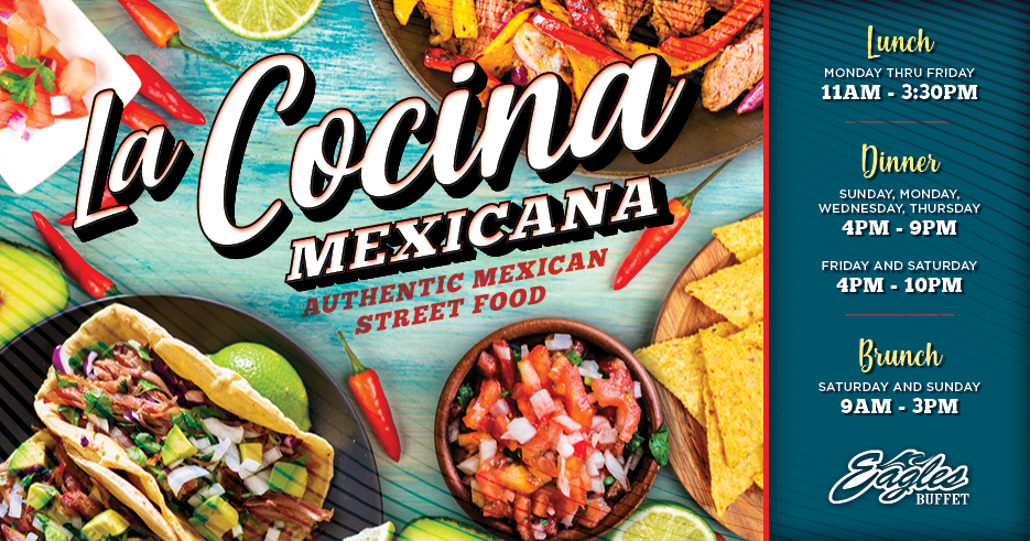 Image of La Cocina promotion at Tulalip's Eagles buffet restaurant