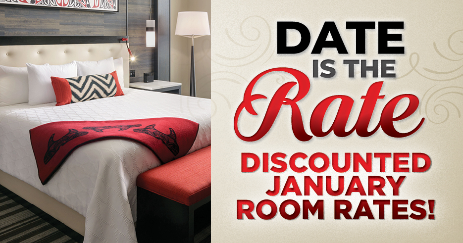 Play slots at Tulalip Resort Casino south of Vancouver, BC near Marysville on I-5, and stay overnight on our the Date is the Rate package!