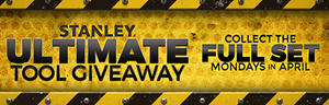 Come in to Tulalip Resort Casino just north of Seatle near Marysville, WA on I-5 Mondays in April to earn power tools in the Stanley Ultimate Tool Giveaway!