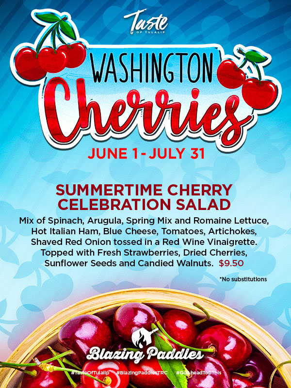 Play slots at Tulalip Resort Casino south of Vancouver, BC near Seattle on I-5 with Washington Cherries specials in Blazing Paddles June 1 - July 31!