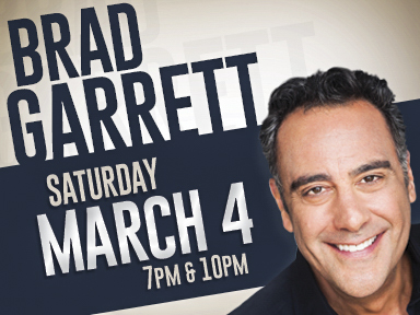 The simply marvelous Tulalip Resort Casino south of Vancouver, BC on I-5 hosted Brad Garrett on March 4th, 2017!