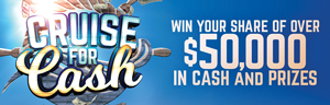 Tulalip Resort Casino near Seattle on I-5 Sundays in June to Win your share of over $50,000 in cash and prizes!