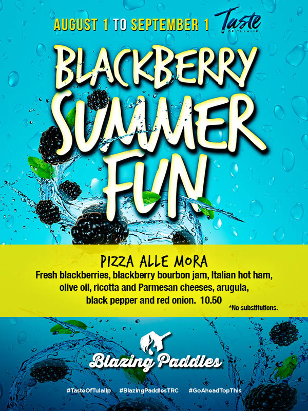 Image of Blackberry Summer Fun 2019 promotion at Tulalip Resort Casino's Eagles Buffet restaurant