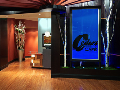 Cedars Cafe entry way at the fabulous Tulalip Resort Casino