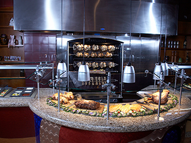 Plenty of mouth watering choices at the carving station at Tulalip Resort Casino's Eagles Buffet