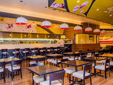 Journeys East Asian cuisine to dine in or take out at luxurious Tulalip Casino Resort near Seattle – dining room