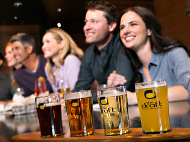Try a selection of local micro brewery craft beers with delicious food choices at Seattle sports bar in Tulalip