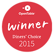 Blackfish Wild Salmon Grill and Bar at the Tulalip Resort Casino has been awarded the 2015 Diners' Choice award from OpenTable.