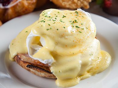 Cedars Cafe breakfast entrée at Tulalip Resort Casino near Seattle
