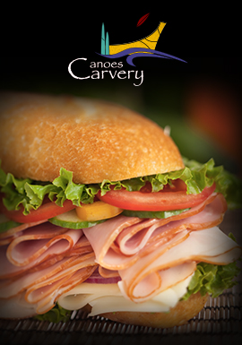 Tulalip Resort Casino Canoes Carvery offers freshly made sandwiches, soups, salads, pastries, and more.