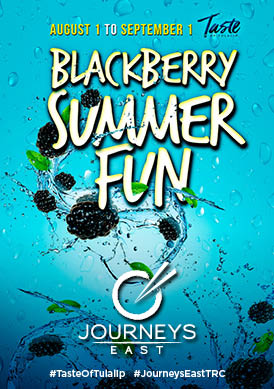 Image of Blackberry Summer Fun 2019 promotion at Tulalip Resort Casino's Journey's East restaurant
