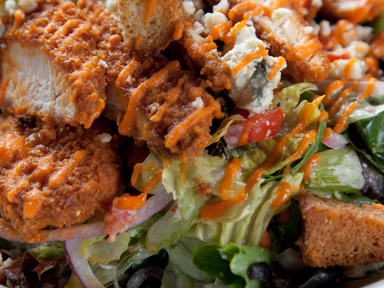 Buffalo Ranch Chicken Salad on the menu at The Draft Sports Bar and Grill at Tulalip Resort Casino.