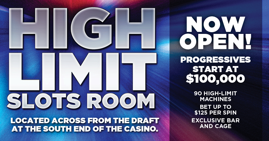 Play slots at Tulalip Resort Casino just north of Marysville on I-5 to enter the High Limit Slots!