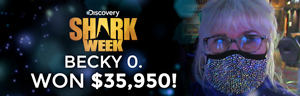 Becky O. won $35,950 playing Shark Week at Tulalip Resort Casino.