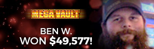 Play slots and more at Tulalip Resort Casino just north of Bellevue and Seattle on I-5 like Ben W. hitting a huge jackpot on Mega Vault!