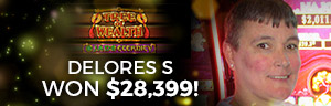 Play slots at Tulalip Resort Casino north of Tacoma near Everett, WA on I-5 like Delores S. winning big on Tree of Wealth!