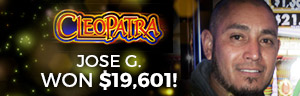 Jose G. won $19,601 playing Fort Knox Cleopatra