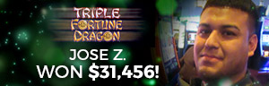 At the fabulous Tulalip Resort Casino Jose Z. hit a huge slots jackpot on Triple Fortune Dragon Unleashed - located south of Richmond, BC near Seattle on I-5!