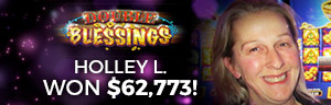 Image showing Holley L. who won a $62,773 jackpot playing slot machines at Tulalip