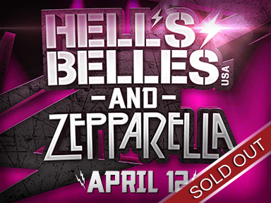 Rock-n-roll tribute bands Hell's Belles and Zepparella performed live April 12th, 2015 at Tulalip Resort Casino