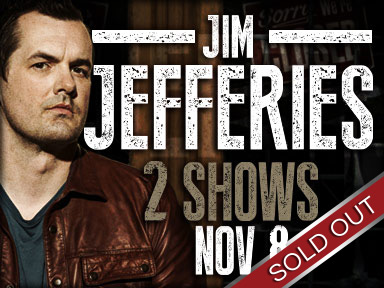 Comedian Jim Jefferies performed live at Tulalip Resort Casino November 8, 2014