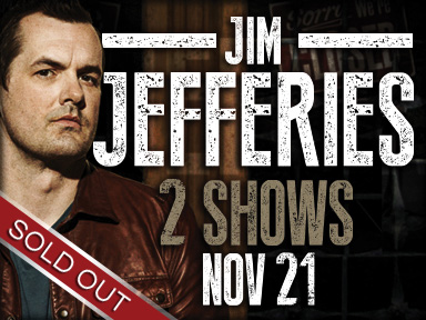 The fabulous Tulalip Resort Casino hosted comedian Jim Jefferies in the Ocra Ballroom for two sold out shows November 21st, 2015