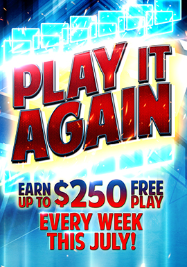 Play slots at Tulalip Resort Casino near Seattle on I-5 on Wednesdays in July to win up to $250 in free play!