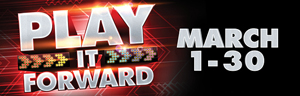 Play slots at the Tulalip Resort Casino just north of Seattle near Everett, WA on I-5 weekdays in March to Play It Forward!
