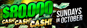 Image of the $80,000 Cash, Cash, Cash promotion at Tulalip Resort Casino's ONEClub